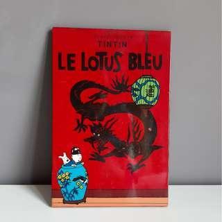 Tin Tin Le Lotus Bleu Panel