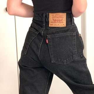 Levi black Mom jeans
