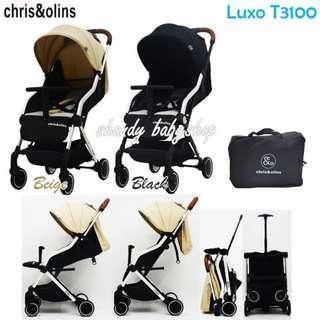 Stroller Chris Olins Luxo T3100 Stroler Cabin Size Kereta Dorong Bayi