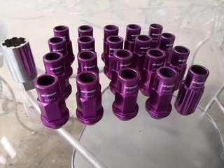 Work Emotion light-weight nuts 超輕螺絲 M12 x P1.5 purple 紫色 80% new 八成新