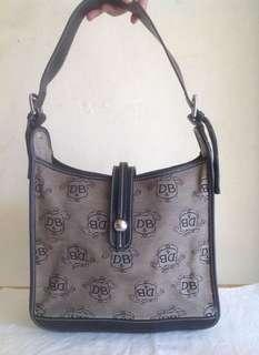 Original Dooney and Bourke Jacquard Signature Feed Shoulder Bag