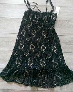#CNY2019 black and gold brukat dress
