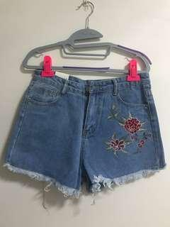 Brand New flora Denim Shorts with tag