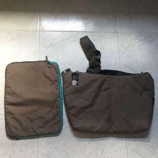 Sling bag with matching laptops sleeve