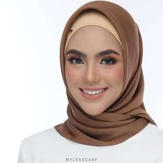 🚚 Musalmah Square Shawl by Nyleascarf - Caramel