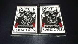 全新ohio製初版黑老虎單車紅版撲克牌bicycle black deck tigers兩副