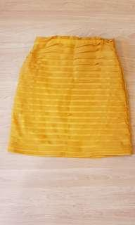 Mustard Yellow Bodycon skirt