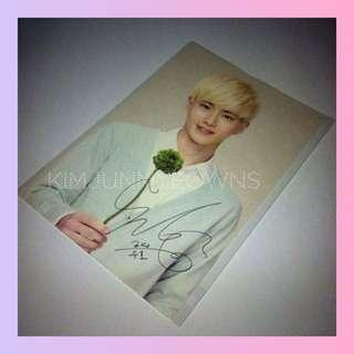 EXO Suho Kim Junmyeon Nature Republic Ver.1 Official Postcard