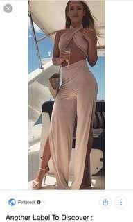 Zachary The Label Wide Split Leg Pants Tammy hembrow