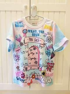 Pastel Goth Harajuku Tshirt (preloved) #GayaRaya