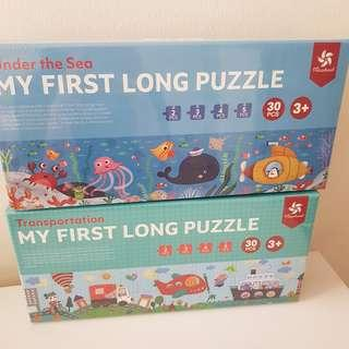 My first puzzle for kids children animals ocean design educational toys