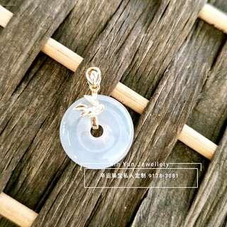 Xin Yun Exclusive Design-Ping An & Bamboo Pendant, Singapore Stock, wishes everyone, as strong as the bamboo, wealth and profit would flow! Jadeite texture/ base is very clear, very suitable for daily wear! Type A Jadeite, with 18k gold and diamond!