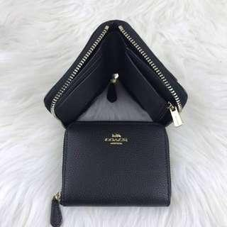 Coach Small Corner Wallet in Black