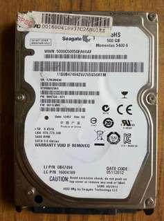 Seagate 500gb 2.5 inch NOTE BOOK HDD