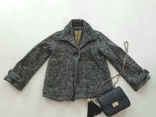 🚚 Black Grey Tweed short Jacket