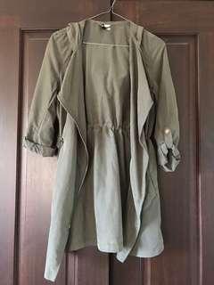 Khaki overcoat