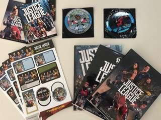 Justice League Stickers, Magnet, Notebook and Pads Set