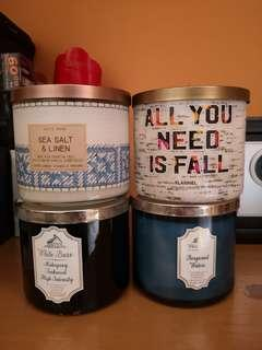 Bath and Body Works Scented Candles