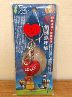 🚚 熱氣球 愛心 LOVE 可愛 造型 木頭 鑰匙圈 紅 嘉年華
