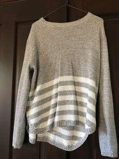 Grey & white knit jumper