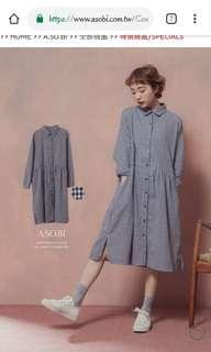 Asobi格子洋裝