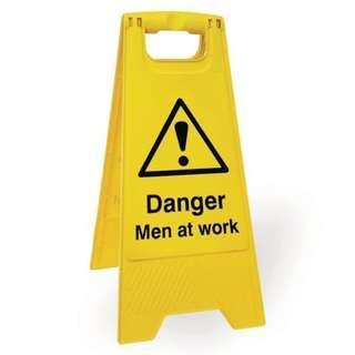 DANGER MEN AT WORK FLOOR SAFETY SIGN