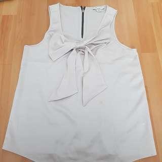 forever21 ribbon blouse