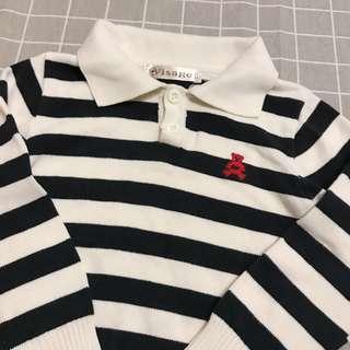 🚚 Visage 熊熊條紋🐻針織童裝