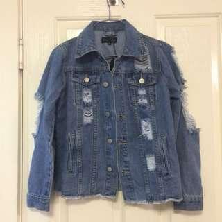 CLEARANCE Distressed denim jacket