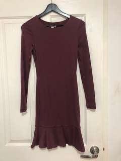 Kookai ascot Pima cotton dress - size 1 (6-8-10)
