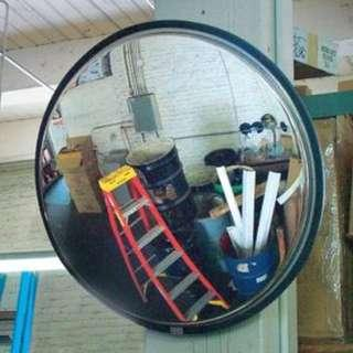 INDOOR CONVEX MIRROR 12 INCHES DIAMETER WITH BRACKET PC MATERIAL VANDAL WORRY FREE
