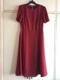 Zalora red dress