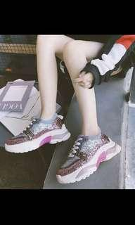 Sequined Chunky Sneakers