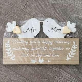 Wedding Married Couple Home Decor Signs