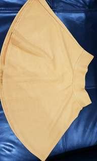 Mustard Yellow Skater Girl Skirt