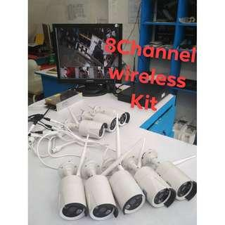 8pcs Wireless Camera Set (No Hassle for Cable Wires)