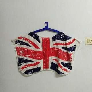 UK Print Batwing Crop Tee#CNY2019