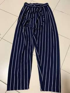 🚚 Striped Culottes (blue and white)
