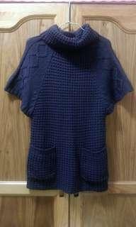 灰色長版毛衣