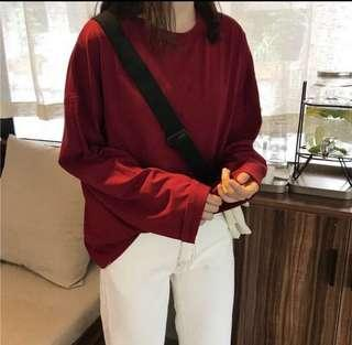 ulzzang long sleeved top