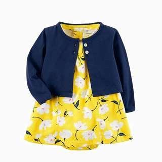 Baju Bayi / Baby Romper Yellow