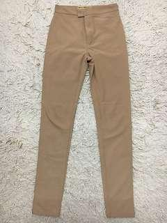 High waisted Long Pants in Nude size S