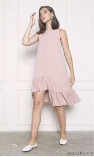 Hollyhoque CHARMER RUFFLES DIP DRESS DUSTY PINK