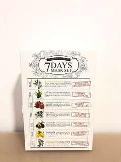 7 day mask set