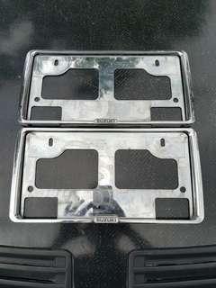 Set Frame Plate Chrome Suzuki