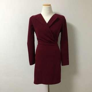 Wine dress xxs/size4