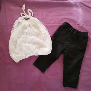 OOTD Black Pants and White Blouse