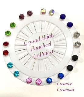 🚚 Crystal Hijab Pinwheel