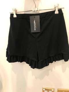 Black Frill Shorts