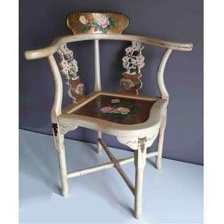 Vintage Hand Painted Peranakan Chair